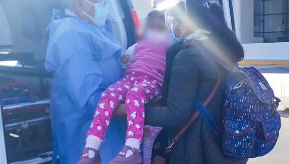 Tacna: niña que se tragó una pila fue trasladada a Lima para recibir atención especializada (Foto: hospital Hipólito Unanue)