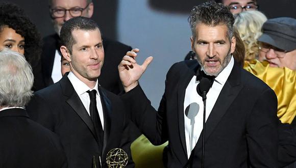 """David Benioff y D.B. Weiss, creadores de """"Game of Thrones"""", alistan su primera producción para Netflix. (Foto: AFP)"""