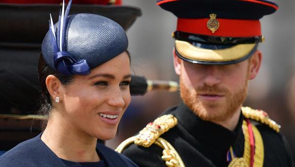 El príncipe Enrique de Sussex y Meghan Markle anunciaron este domingo 06 de junio el nacimiento de su hija. (Foto de Daniel LEAL-OLIVAS / AFP).