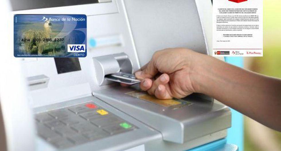 Bono 380 soles: Personas con tarjeta Multired del Banco de la Nación pueden retirar gratis en cajeros de cualquier banco