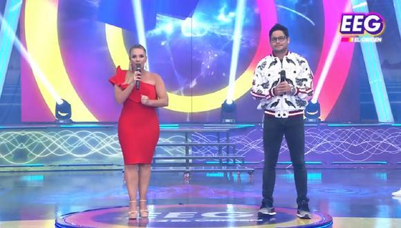 Johana San Miguel y Gian Piero Díaz. (Captura TV)
