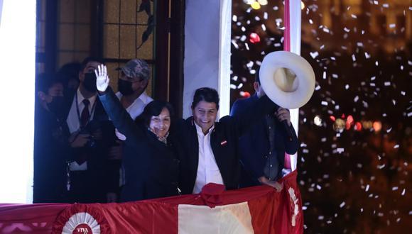 Dina Boluarte agradeció a quienes han confiado en la propuesta de gobierno presentada por Perú Libre. (Foto: @photo.gec)