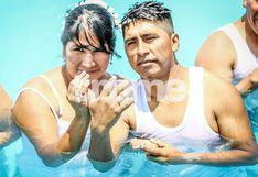 'Aqua Boda': 21 parejas se lanzaron a la piscina en matrimonio masivo en Mi Perú | FOTOS