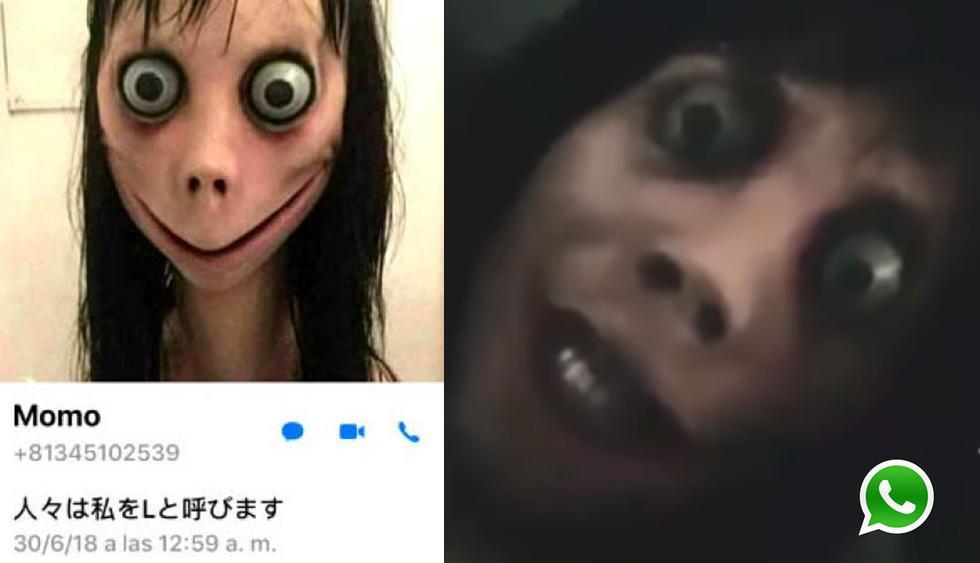 Un usuario en YouTube trató de contactarse por videollamada con 'Momo'; sin embargo, su WhatsApp reaccionó de esta manera tan extraña. (Foto: WhatsApp)