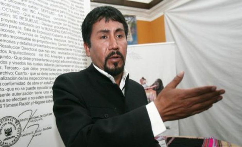 Elmer Cáceres Llica, gobernador de Arequipa. (GEC)
