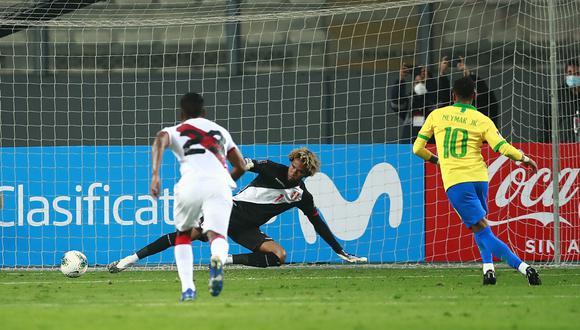 Pedro Gallese recibió 4 goles de Brasil en el Nacional de Lima. (Foto: AP)