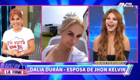 Dalia Durán se enfrentó a Stefany Camus. (Magaly Tv. La firme)