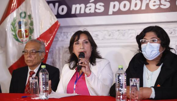 Dina Boluarte, candidata a la primera vicepresidencia por Perú Libre.