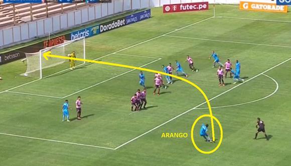 Johan Arango y su gran definición de tiro libre en Binacional vs Sport Boys,.