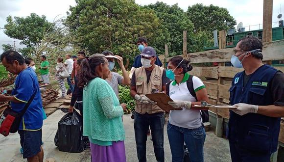 Las autoridades del sector Salud invocan a la ciudadanía en Loreto a acatar la Emergencia Sanitaria Nacional. (Foto: Diresa Loreto)