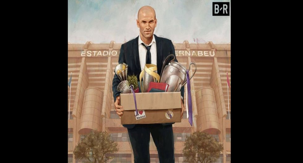 Memes de la renuncia de Zinedine Zidane. (Fotos: Facebook/Twitter)