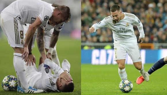 Lesión de Eden Hazard en el Real Madrid