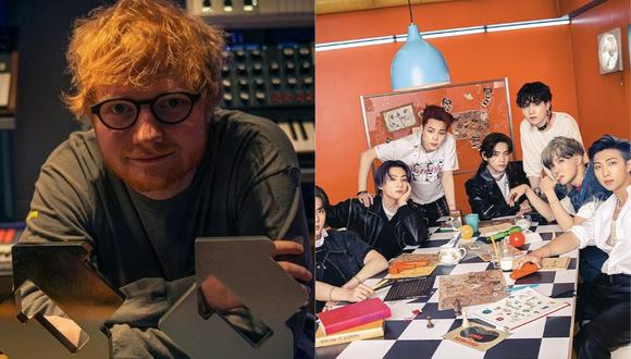 Ed Sheeran y BTS alistan colaboración musical. (Foto: @teddysphotos/@bts.bighitofficial).