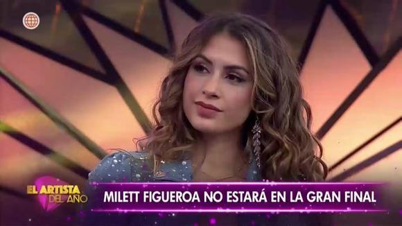 """Milett Figueroa es eliminada de """"El Artista del Año"""""""