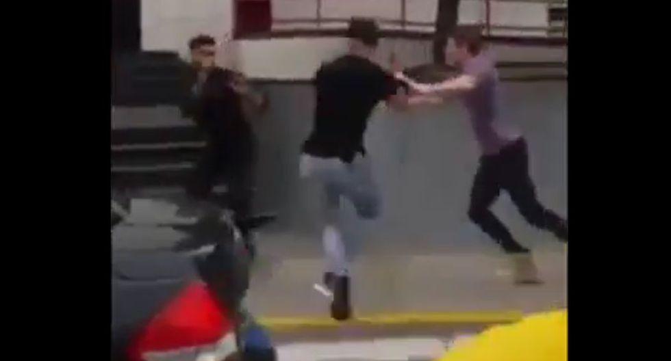 Coto Hernández y Erick Sabater se agarran a golpes