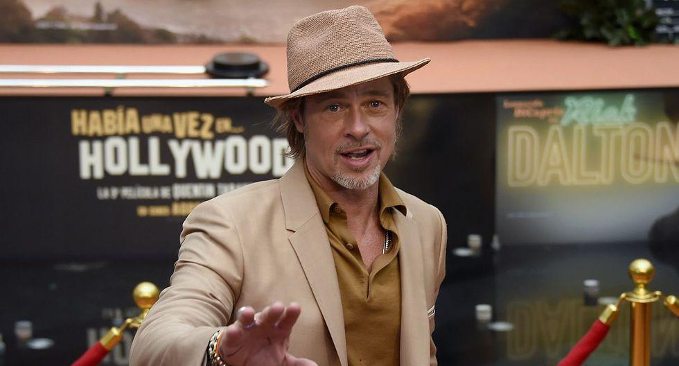 """Brad Pitt está en México para presentar """"Once Upon a Time… in Hollywood"""". (Foto: AFP)"""