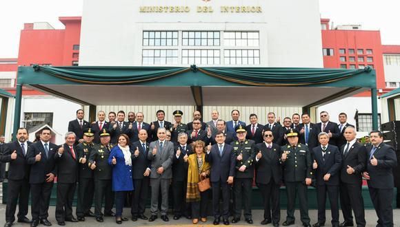 Parte de los integrantes del GEIN durante una ceremonia de reconocimiento por su importante trabajo en el Ministerio del Interior en el año 2019. (Foto: MININTER)