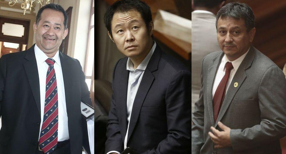 Kenji Fujimori, Guillermo Bocángel y Bienvenido Ramírez se salvaron del desafuero