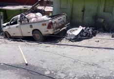 Arequipa: Chofer pierde la vida al impactar su camioneta contra una vivienda