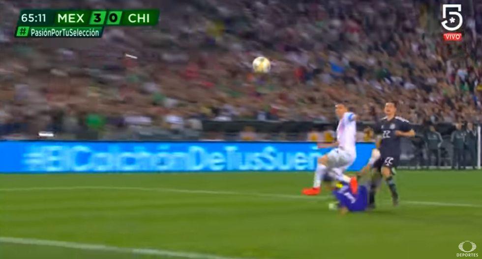 Gol Chucky Lozano 3-0 México vs. Chile