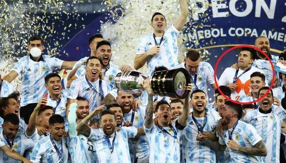 La razón por la que Marcos Acuña no utilizó la camiseta argentina en los festejos. (Foto: Agencias)