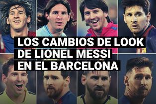 Los cambios de look de Leo Messi en el FC Barcelona
