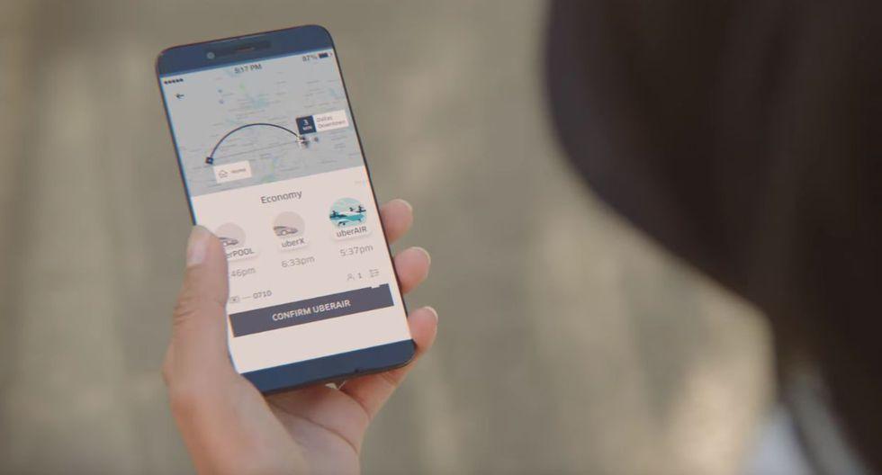 Uber presenta sus taxis voladores