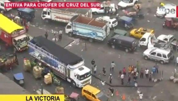 La operación de limpieza se realizó esta mañana. (Foto: Captura/TV Perú)