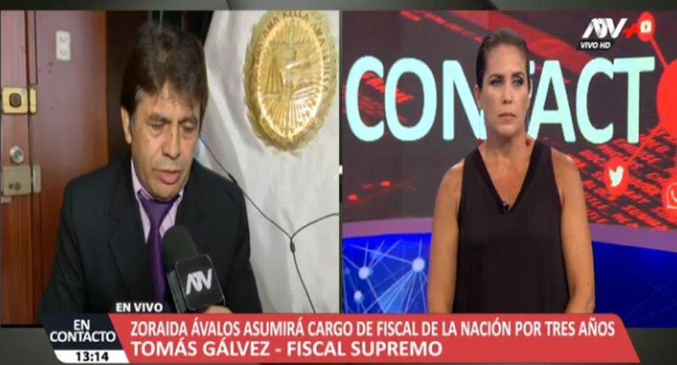 Fiscal Tomás Gálvez discute con Pamela Vértiz por Chávarry