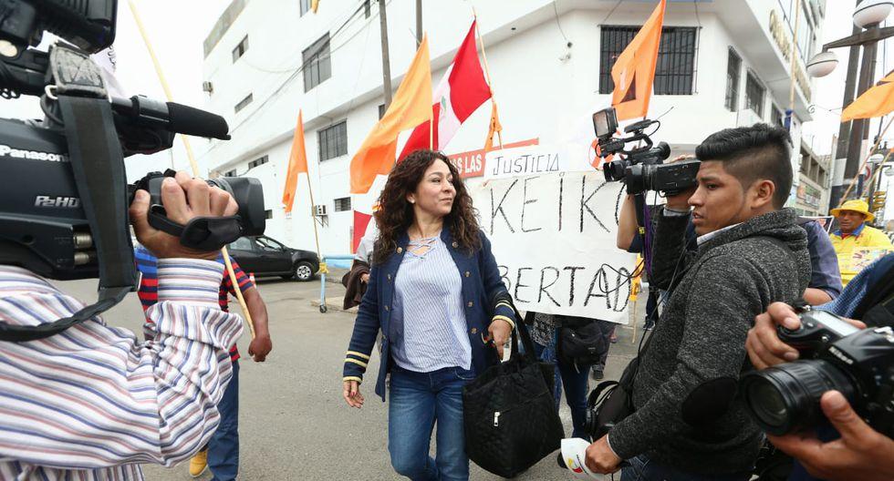 Diversos parlamentarios fujimoristas visitaron a Keiko Fujimori en la víspera de Navidad. (Foto GEC / Alessandro Currarino)