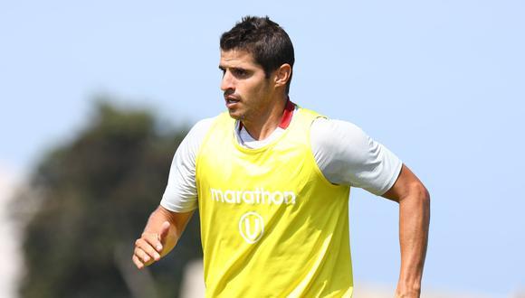 El defensa Aldo Corzo entrena desde el sábado con todos sus compañeros luego de haber estado separado del plantel.