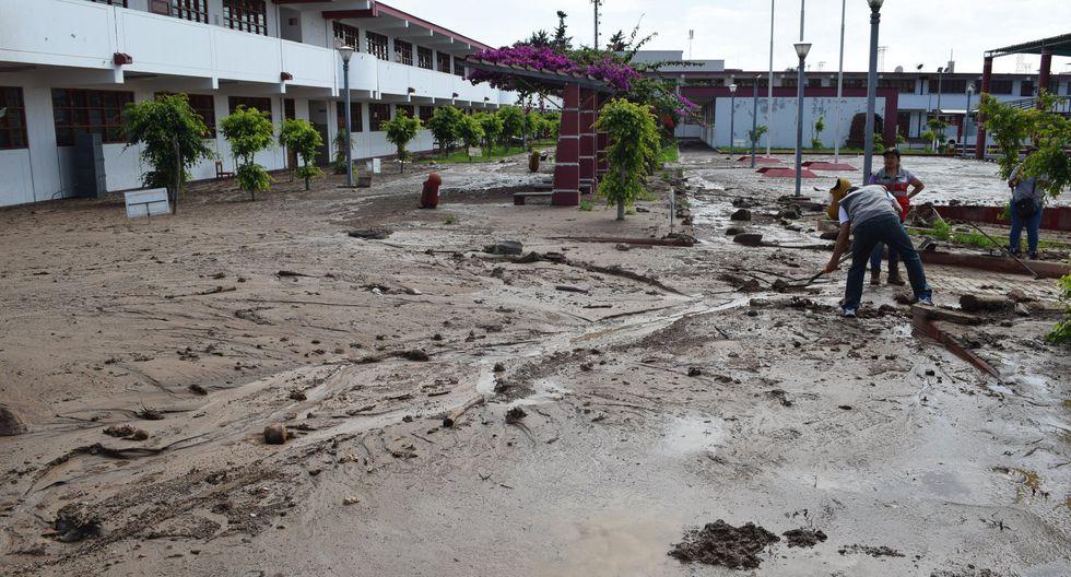 Huaico en Tacna causó daños en la I.E. Modesto Basadre. (FOTOS: DRE Tacna)