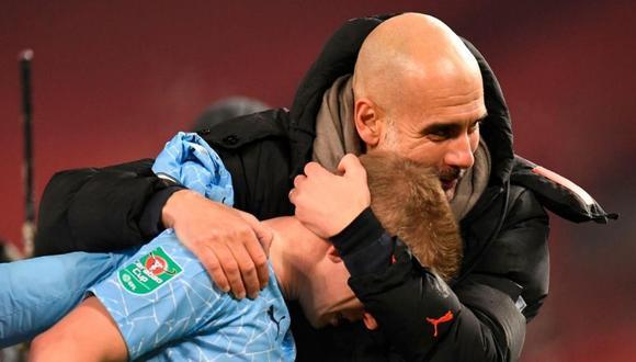 Pep Guardiola pone en su mira a Lukaku y Haaland (Foto: AFP)