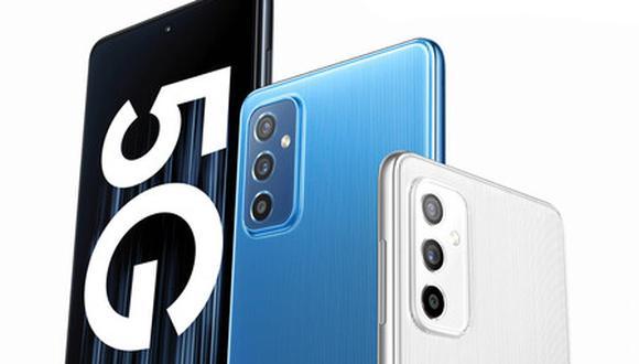 Samsung muestra al nuevo Galaxy M52 con tecnología 5G incluida. | Foto: Samsung