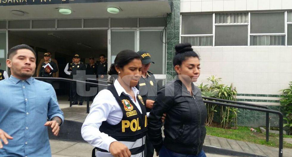 Diana Sánchez fue detenida por agredir a su esposo. Foto: Mónica Rochabrum / Trome