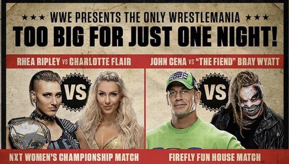 Continúan las grandes luchas en WrestleMania. (WWE)