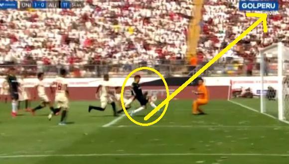Beto Da Silva falló gol increíble a metros del arco en el Universitario vs Alianza por Liga 1