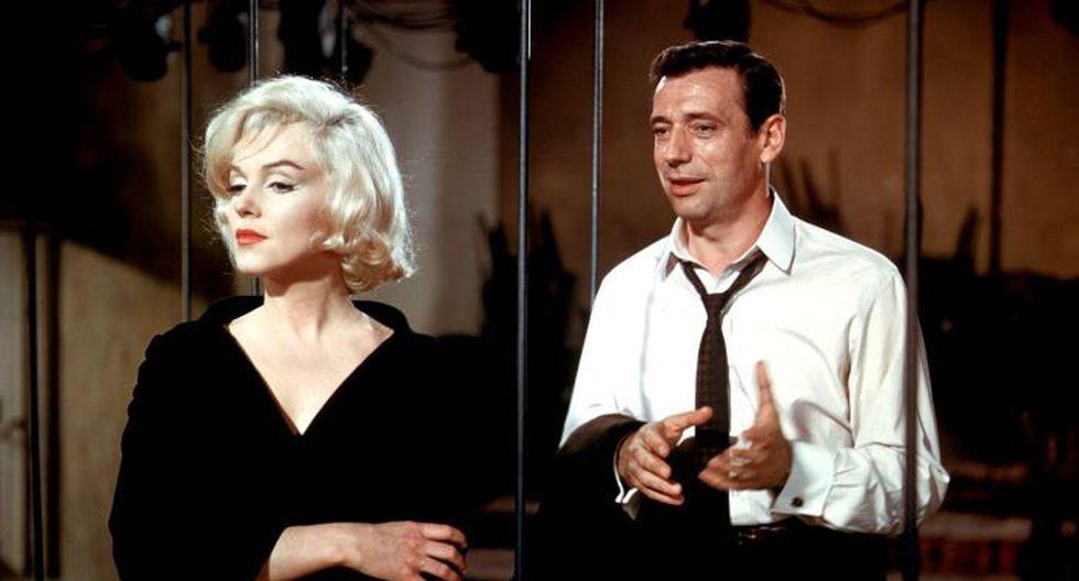 Marilyn Monroe e Yves Montand.