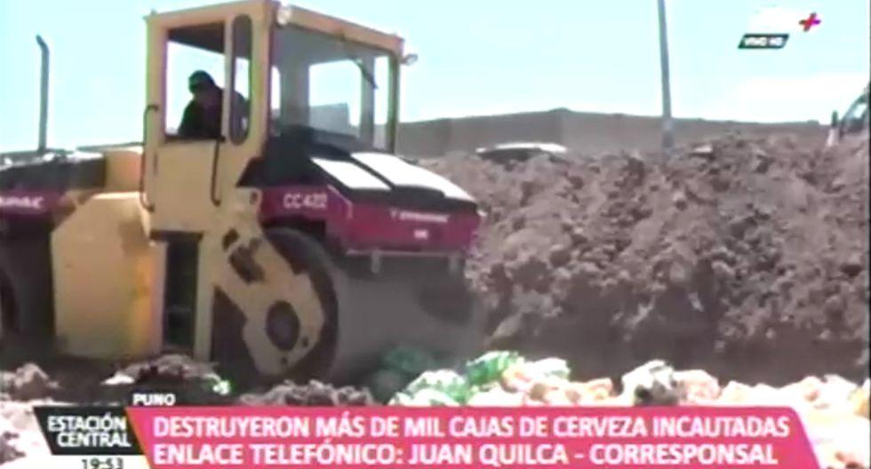 Puno: Destruyen más de mil cajas de cerveza incautadas a cantinas y discotecas ilegales