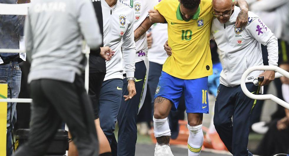 Arrinconado en el plano extradeportivo, Neymar espera responder en el campo. En vano: tras lesionarse en el tobillo derecho en un amistoso contra Catar (2-0) se ve obligado a causar baja para la Copa América. (Foto: AFP)