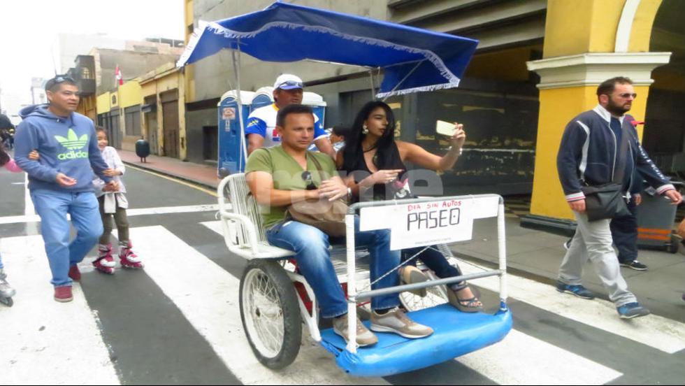 'Al Damero de Pizarro sin carro' se realiza el último domingo de cada mes y restringe el uso de vehículos motorizados en el Centro Histórico de Lima. (FOTOS Y VIDEO: Isabel Medina / Trome)