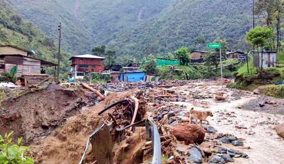 Cuatro desaparecidos y 20 viviendas afectadas tras fuerte huaico en Calicanto. Foto: Twitter / Joaquin Dipas