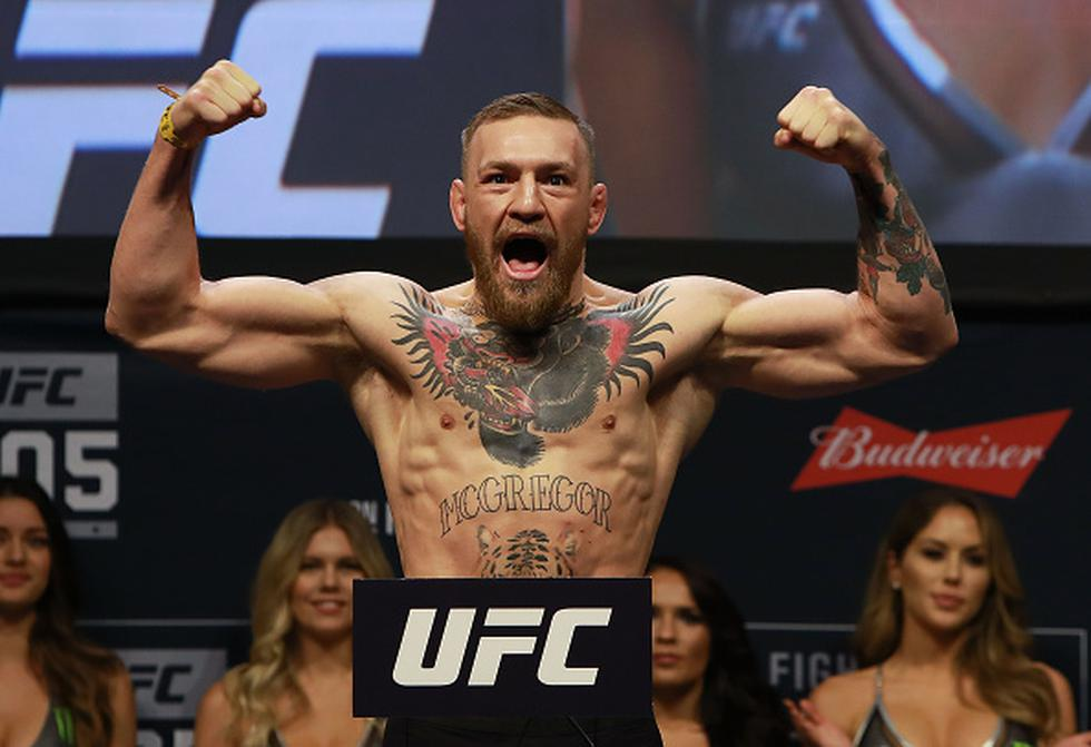 Conor McGregor recibió el apoyo del público de Nueva York. (Agencias)
