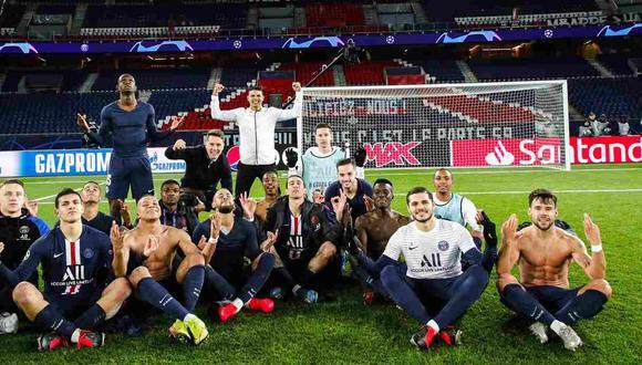 La historia detrás de la polémica celebración de PSG en la Champions League tras eliminar al Borussia Dortmund. (Foto: AFP)