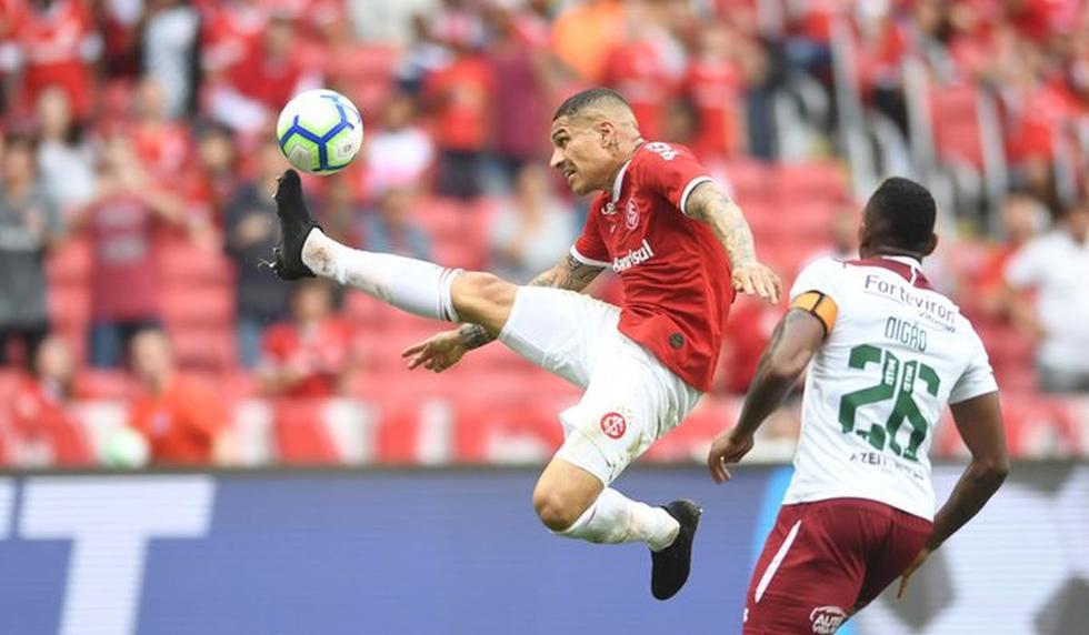 Con Paolo Guerrero, Internacional venció 2-1 a Fluminense por el Brasileirao