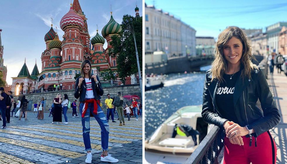 Anna Carina Copello está en el Mundial Rusia 2018 alentando a la selección peruana. (Fotos: Instagram)