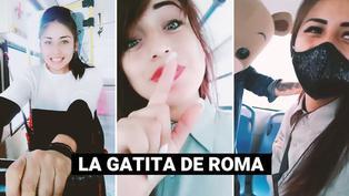 """""""La Gatita de Roma"""": cobradora de bus la rompe en TikTok"""