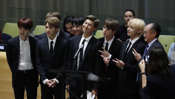 BTS suele causar revuelo a los lugares que acude. (AFP)