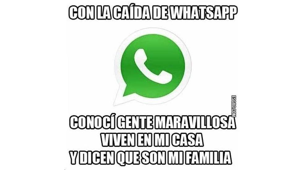 Memes por la caída de WhatsApp (Foto: Twitter)