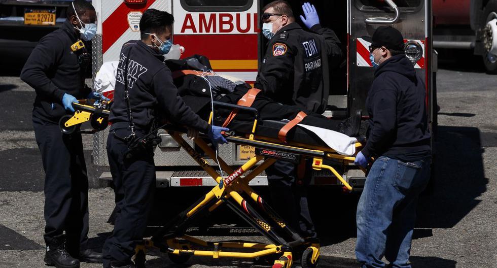 Reportan los dos primeros peruanos fallecidos en Nueva York a consecuencia del coronavirus | TROME | EFE/EPA/JUSTIN LANE